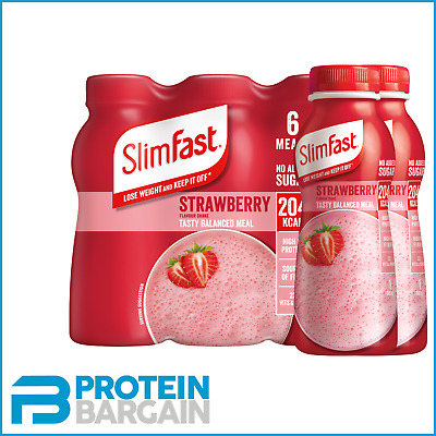 £10.95 • Buy Slimfast Meal Replacement Shake RTD 6 X 325ml 15g Protein Per Serve 204 Calories