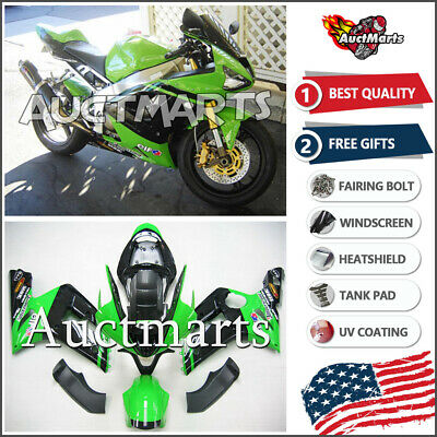 $579 • Buy For Kawasaki Ninja ZX6R 636 2003 2004 03 04 Injection Mold Fairing Kit 3a6 BE