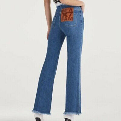 AU110.75 • Buy RRP£325 7 For All Mankind Marques Almeida 70s Flare High Waist Jeans 25