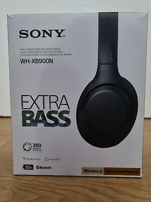 $ CDN23.32 • Buy SONY EXTRA BASS WH-XB900N Wireless Bluetooth Noise-Cancelling Headphones - Black