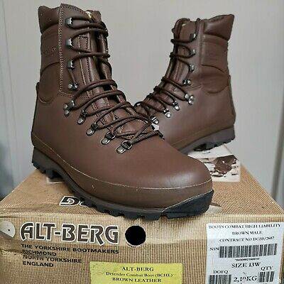 $151.27 • Buy Genuine Military Mens Altberg High Liability Brown Boots 13 Wide New In Box