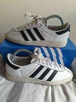 $ CDN1.71 • Buy Adidas Munchen UK7 Rare Deadstock Og Spzl London Og City Zx Gt Lg White Leather