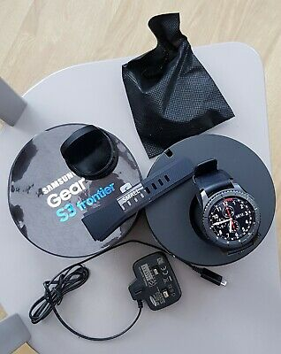 AU212.57 • Buy Samsung SM-R760 Gear S3 Frontier Stainless Steel Smartwatch - Space Grey, USED