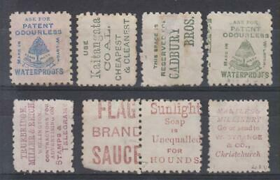 AU7.50 • Buy New Zealand QV 1893 Stamps With Advertisements Selection, Values To 1/-