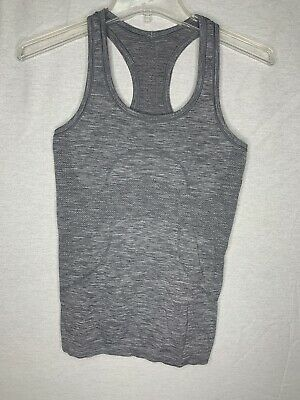 $ CDN19.93 • Buy Lululemon Womens Gray Razor Back Swifty Tank Top Size 4