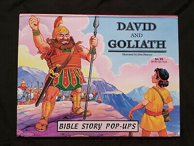 £8.52 • Buy Childrens Bible Pop Up Book DAVID AND GOLIATH John Patience