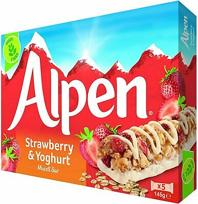 £14.80 • Buy  Alpen Strawberry And Yoghurt 5 Cereal Bars (Pack Of 10, Total Of 50 Bars)