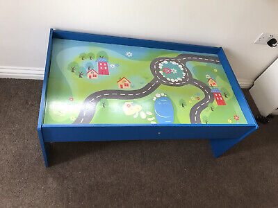 £5 • Buy Wooden Play Table For Trains Cars Construction Lego Building Toy Pretend Play