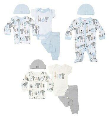 £11.45 • Buy Tiny Baby Boys Layette Clothes Set Starter Outfit Hat Babygrow NEW Premature