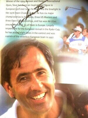 £129 • Buy Signed Seve Ballesteros In Black Ink Unique Autograph Framed Photo Tiger Rory