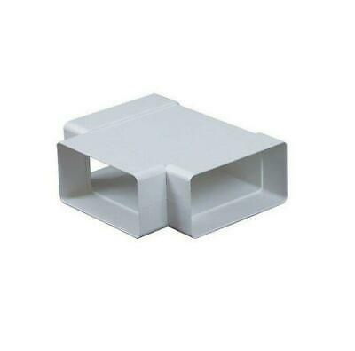£3.89 • Buy Rectangular T Piece 55mm X 110mm Channel Ducting Pipe Connector Adapter