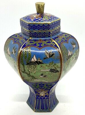 £90.44 • Buy Vintage Chinese Bronze And Enamel Cloisonne Vase With Lid
