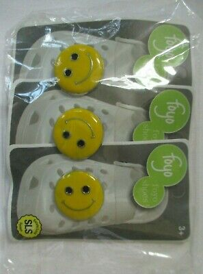 £2.90 • Buy Foyo Shoes Crocs Happy Face Button Charm Pin - Set Of 3 - New