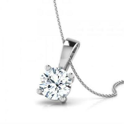 $1349.99 • Buy 0.5 Carat D Si1 Round Shape Diamond Single Pendant 18k White Gold +  Certified