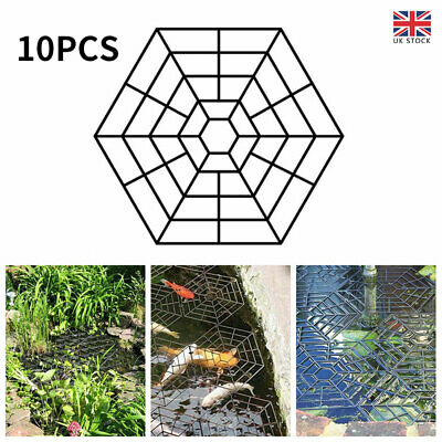£7.98 • Buy 10x Floating Pond Protector Plastic Mesh Fish Protection Net Cover For Bird Pest
