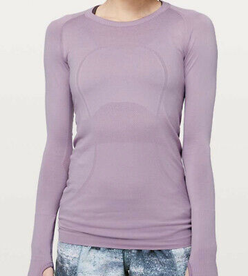 $ CDN85 • Buy Lululemon NWT Swiftly Tech Long Sleeve Crew Size 12 Antoinette Antibacterial