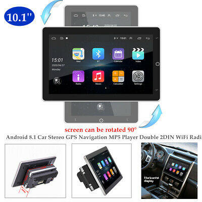 $219 • Buy 360° Rotation 10.1  Double DIN Android 8.1 Car Stereo GPS MP5 Player WiFi Radio