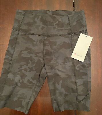 $ CDN62 • Buy Lululemon NWT Fast And Free Short Size 10 Incognito Camo Multi Grey 6in Nulux