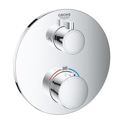 £249.99 • Buy Grohe 24076000 GROHTHERM THERMOSTATIC SHOWER MIXER FOR 2 OUTLETS