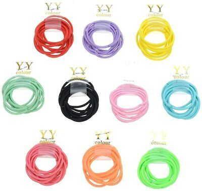 $ CDN11.86 • Buy 100pcs 2mm Candy Color Baby Girls' Elastic Hair Bands Bobbles Accessories