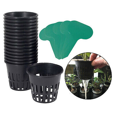 $ CDN13.66 • Buy 3  Garden Slotted Mesh Net Cups With 10 Packs Plant Labels For Hydroponics/