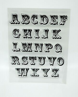 £4.95 • Buy Uppercase Alphabet Clear Acrylic Stamps, Letters *UK Seller, Fast Dispatch* 1Z