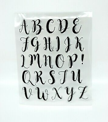 £4.95 • Buy Uppercase Alphabet Clear Acrylic Stamps, Letters *UK Seller, Fast Dispatch* 2Z