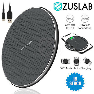 AU8.99 • Buy Universal 10W Qi Wireless Charger Charging Pad For IPhone 12 11 Pro Max Samsung