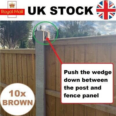 £6.90 • Buy Fence Panel Wedges (10 Pack) Stop Fence Panels Rattling In Wind, Fence Wedges