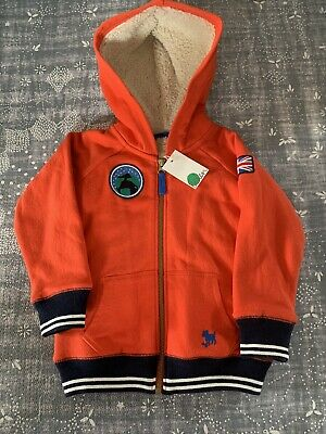 £35.40 • Buy NWT Mini Boden Boys Girls Shaggy Lined Zip Up Hoodie Outer Space 3Y