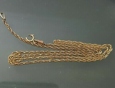 AU84.50 • Buy 9ct Gold Neck Chain 44 Cm In Length