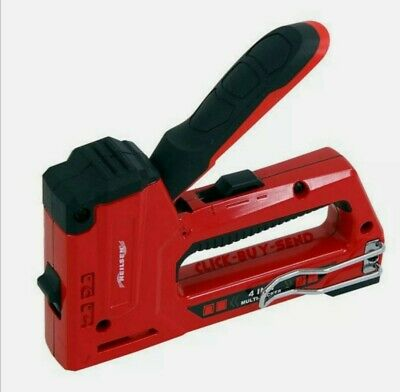 £14.50 • Buy Heavy Light Duty 4 In 1 Staple Brad Nail Gun High Low Power Cable Tacker Staples