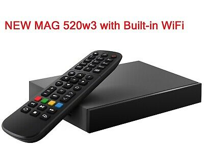£109.99 • Buy MAG 520w3 With Built-in Dual Band Wi-Fi Infomir IPTV Set Top TV Box 4K 420