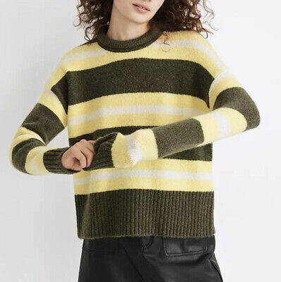 $35 • Buy Madewell Size S Striped Fulton Cozy Pullover Sweater Ma756