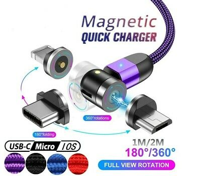 AU10.20 • Buy 360° Charging Cable Magnetic Charger Cord For IPhone Type-C Micro USB Android
