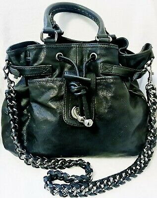 AU54 • Buy Near New Oroton Black Leather Handbag/shoulder Bag