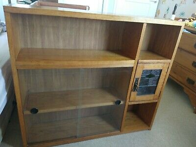 £46 • Buy Vintage Bookcase With Arts And Crafts Style Stained Glass