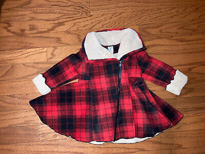 $24.50 • Buy NWT Baby Toddler Girl Mack And Co. Red Black Plaid Soft Winter Coat Zipper 2t