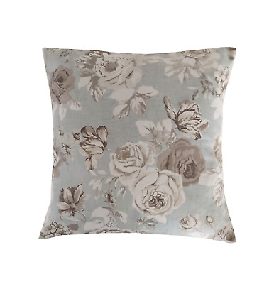 £9.99 • Buy 16  Cushion Cover In Clarke And Clarke Genevieve Grey Blue Roses