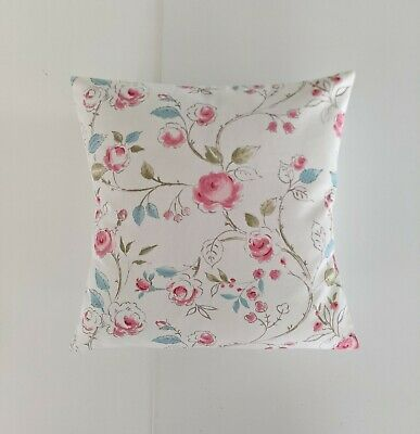 £6.99 • Buy 16  Cushion Cover In Clarke And Clarke Milly Pink Roses