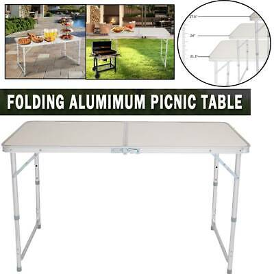 £25.95 • Buy 4ft Folding Camping Table Aluminium Picnic Portable Adjustable Party Outdoor Uk