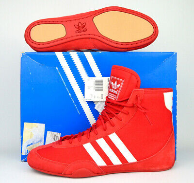 $ CDN402.66 • Buy ~NEW~ Adidas Canvas Wrestling Shoes Size 9.5 (2003) Red White RARE