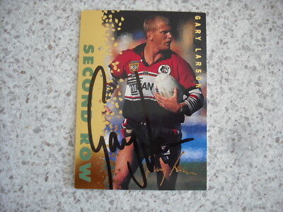 AU14.99 • Buy Nrl Rugby League Card Personally Signed With Coa 1996 Gary Larson Gold Bears
