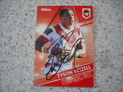 AU9.99 • Buy Nrl Rugby League Card Personally Signed With Coa Tyson Frizell 2018 Dragons