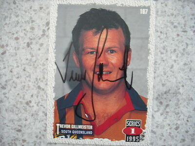 AU9.99 • Buy Nrl Rugby League Card Personally Signed & Coa 1996 Trevor Gillmeister Crushers