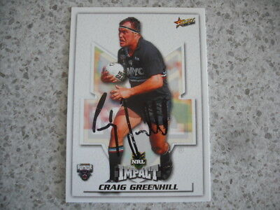 AU9.99 • Buy Nrl Rugby League Card Personally Signed With Coa 2001 Craig Greenhill Panthers