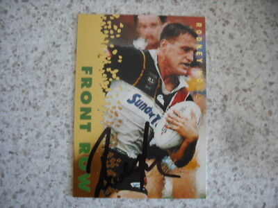 AU14.99 • Buy Nrl Rugby League Card Personally Signed With Coa 1996 Gold Rodney Howe Reds