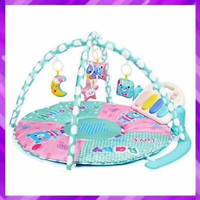 £41.72 • Buy BABY GYM PLAY MAT Piano Activity With 5 Hanging Sensory Toys Infants AMAGOING