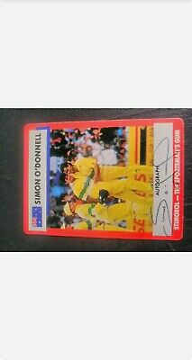 AU35 • Buy 1990-91 Stimorol Cricket Cards - Card No. 24 Signed By Simon O'Donnell
