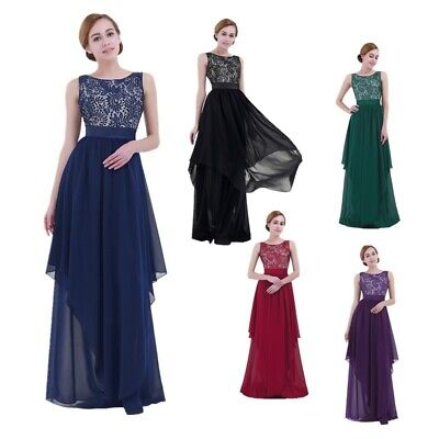 £18.41 • Buy Womens Wedding Dresses Long Bridesmaid Overall Dress Lace Evening Prom Ball Gown